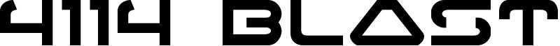 4114 Blaster Font