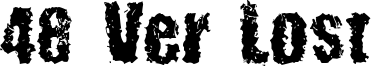 48 Ver Lost Font