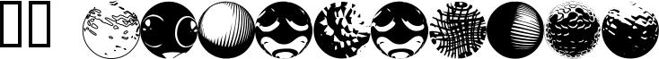 52 Sphereoids Font