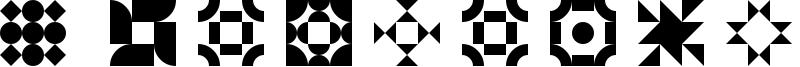 5 Geomedings Font