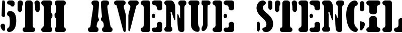5th Avenue Stencil Font