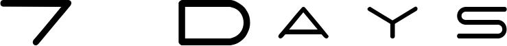 7 Days Font