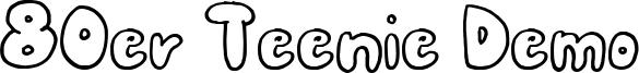 80er Teenie Demo Font