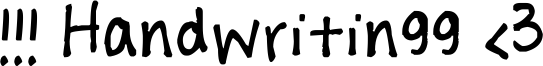 !!! Handwritingg <3 Font