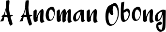 A Anoman Obong Font