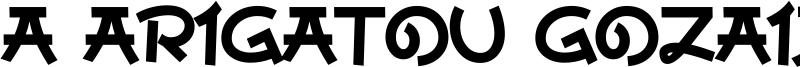 A Arigatou Gozaimasu Font