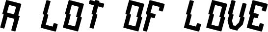A lot of love Font