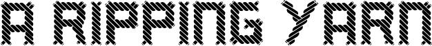 A Ripping Yarn Font