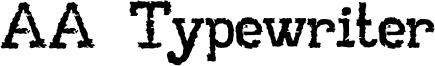 AA Typewriter Font