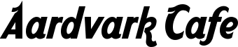 Aardvark Cafe Font