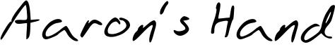Aaron's Hand Font