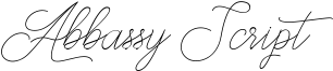 Abbassy Script Font