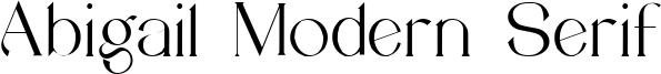 Abigail Modern Serif Font