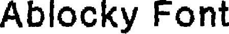Ablocky Font Font