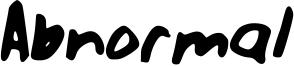 Abnormal Font