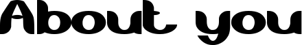 About you Font