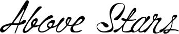 Above Stars Font