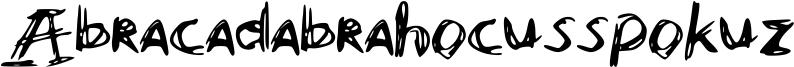 Abracadabrahocusspokuz Font