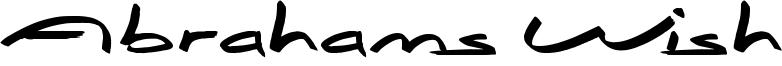 Abrahams Wish Font