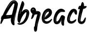 Abreact Font