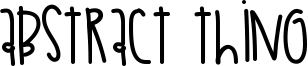Abstract Thing Font