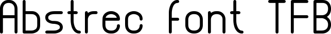 Abstrec font TFB Font