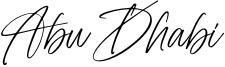Abu Dhabi Font