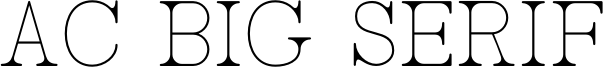 AC Big Serif Font