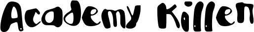 Academy Killer Font