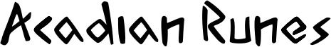 Acadian Runes Font