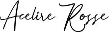 Acelire Rosse Font