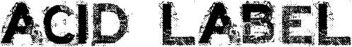 Acid Label Font