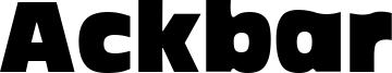 Ackbar Font
