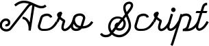 Acro Script Font