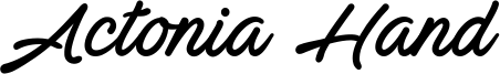 Actonia Hand Font