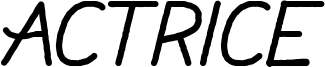 Actrice Font