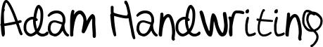 Adam Handwriting Font