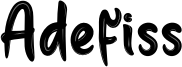 Adefiss Font