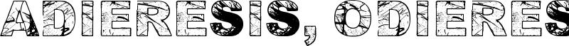 Adieresis, Odieresis & Aring Font