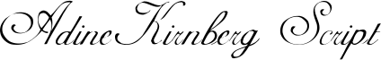 AdineKirnberg Script Font