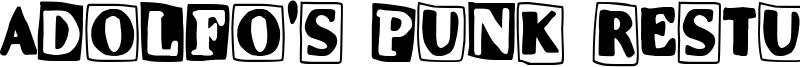 Adolfo's Punk Restuarant Font