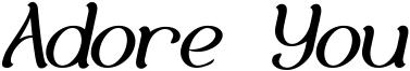Adore You Font