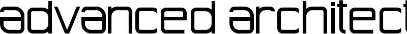 Advanced Architecture Font