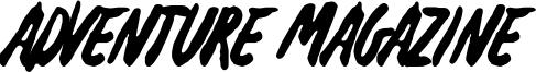 Adventure Magazine Font