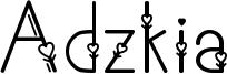 Adzkia Font
