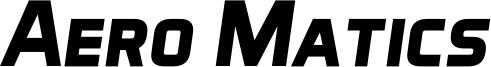 Aero Matics Display Bold Italic.ttf