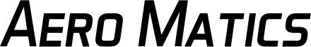 Aero Matics Display Italic.ttf