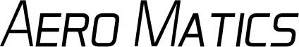 Aero Matics Display Light Italic.ttf