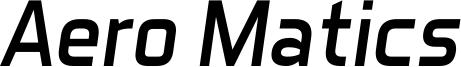 Aero Matics Italic.ttf
