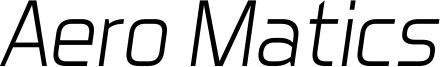 Aero Matics Light Italic.ttf